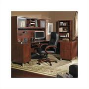 """Bush Somerset 4 Piece 71"""" L-Shape Office Set in Hansen Cherry"""