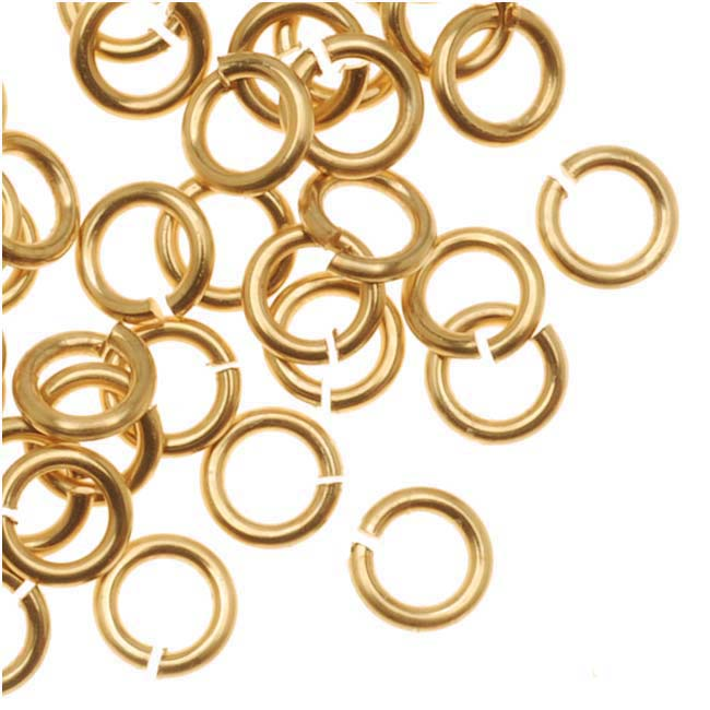 Artistic Wire, Chain Maille Jump Rings, 20 Ga / ID 2.78mm / 170pc, Tarnish Resistant Gold Tone Brass