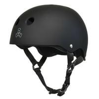 Triple 8 Sweatsaver Helmet ALL Blk Rub - M