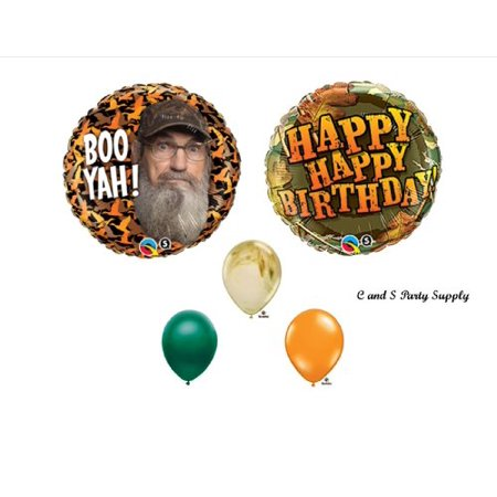 DUCK DYNASTY Uncle Si Camouflage Happy Birthday Party Balloons Favors Decorations Supplies for $<!---->