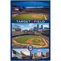 Minnesota Twins Target Field Aerial MLB Baseball Sports Poster 22x34