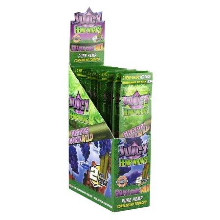 25PK DISPLAY - Juicy Hemp Wraps - 2pc - Grape Gone Wild