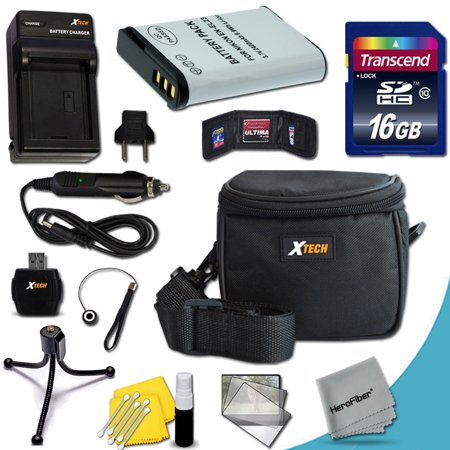 Ideal Accessory Kit for Nikon Coolpix P610, P900, P600, S810c Cameras Includes: 16GB High Speed Memory Card + 1 High Capacity EN-EL23 / ENEL23 Lithium-ion Battery with Quick AC/DC Charger + Water
