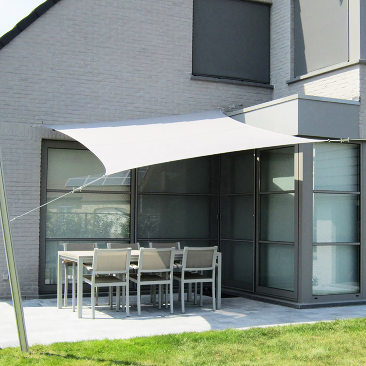 Waterproof Sun Shade Sunscreen Sail UV-resistant Awning Canopy Cover Outdoor Garden Patio 3x3m/3.6x3.6m Square