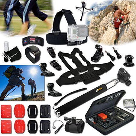 Xtech® RAPPELLING ACCESSORIES Kit for GoPro Hero 4 3+ 3 2 1 Hero4 Hero3 Hero2, Hero 4 Silver, Hero 4 Black, Hero 3+ Hero3+ Hero 3 Silver, Hero 3 Black and for Travel, Traveling, Hiking, Climbing,