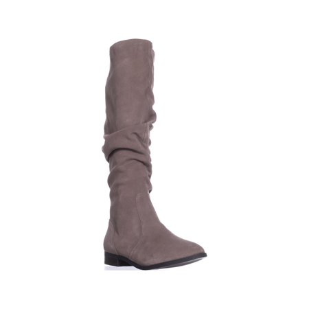 Womens Steve Madden Beacon Tall Slouch Boots, Taupe Suede, 8.5
