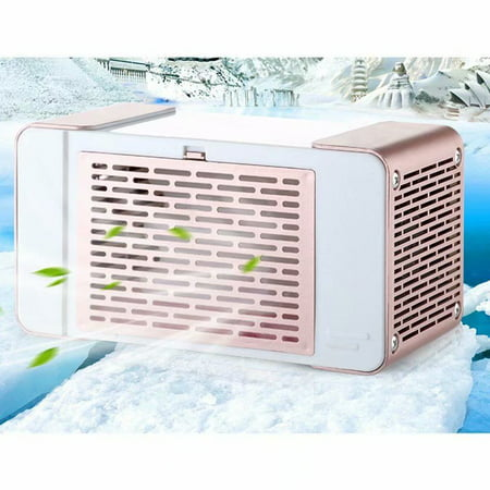 VicTsing USB Cooler Personal Evaporative Air Mini Portable Desktop Air Conditioner Mini Cold Fan Refrigerator with USB Light for Bedroom Dormitory Office,rose