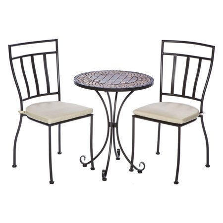 Alfresco Wrought Iron Round Patio Bistro Set Image
