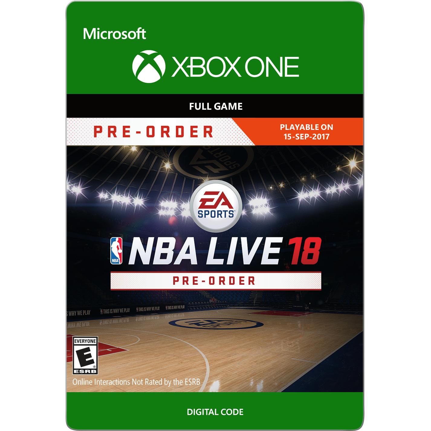 Xbox one NBA LIVE 18 (email delivery)