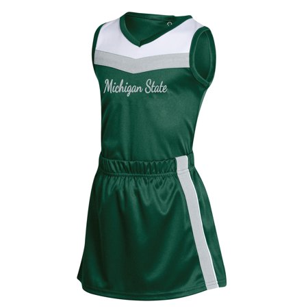 Spartan Outfits (Girls Infant Russell Green Michigan State Spartans 3-Piece Cheer)