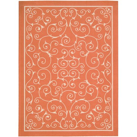 Nourison Home Amp Garden Orange Indoor Outdoor Area Rug