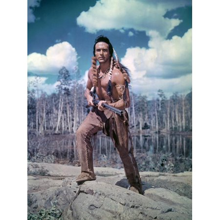 - ACROSS THE WIDE MISSOURI, 1951 directed by WILLIAM WELLMAN with Ricardo Montalban (photo) Print Wall Art