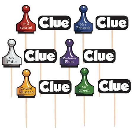 Blues Clues Cupcakes (Hasbro Game 'Clue' Cupcake Topper / Picks (36ct))