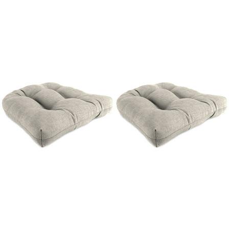 Jordan Manufacturing Outdoor Patio Wicker Chair Cushion Set, Jackson Beechwood ()