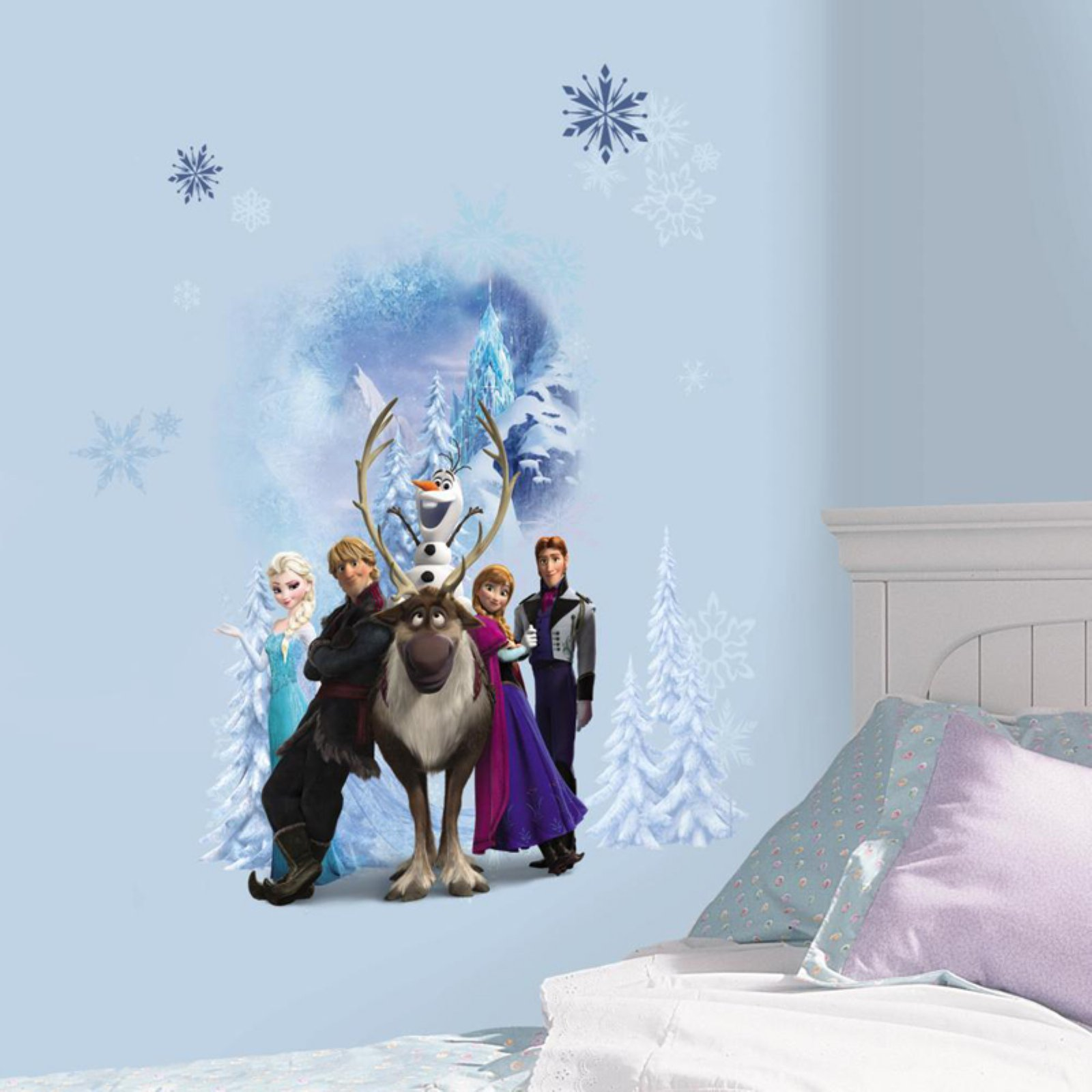 RoomMates Disney Frozen Character Winter Burst Peel and Stick Giant Wall Decals