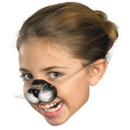 Black Cat Nose with Elastic Adult Halloween Accessory - Halloween Cat Lips