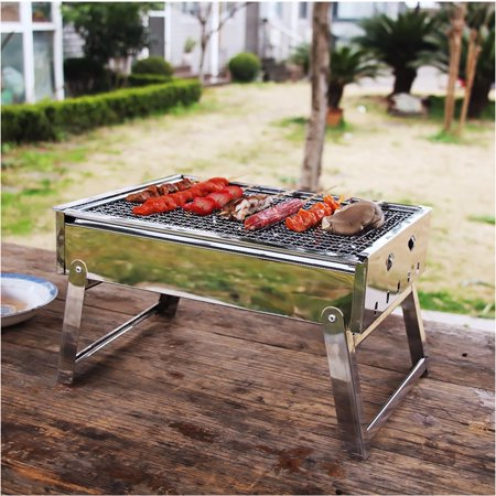 Outdoor Portable Folding Stainless Steel Barbecue Grill BBQ Picnic Camping  new - image 3 of 11