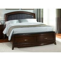 Liberty Furniture Avalon Leather Platform Storage Bed