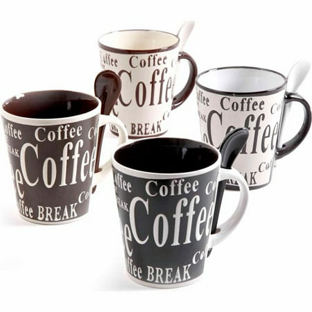 Mr. Coffee Bareggio 8-Piece Mug Set - Clear Glass Coffee Mugs