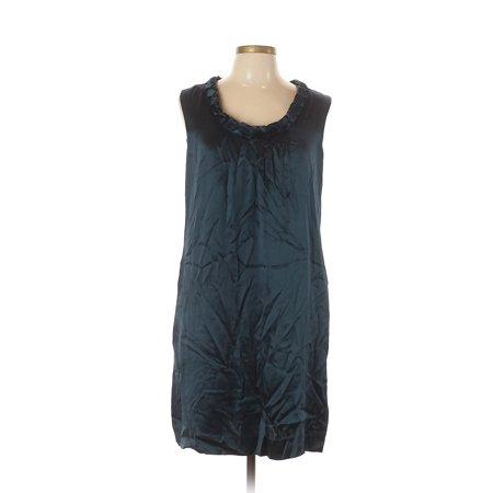 Pre-Owned Calvin Klein Women's Size 12 Cocktail Dress Retro Print Silk Shift Dress