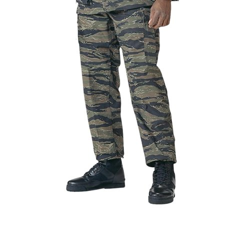 Tiger Stripe Camo BDU Pants, Military (Fatigues Tiger Stripe Camo Pants)