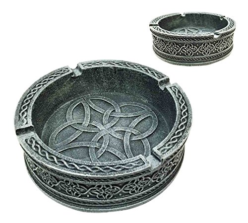 Decorative Exquisite Round Celtic Tribal Knotwork Cigaretter Ashtray Resin Figurine For Cigar Lovers Gift For Smokers Or... by Gifts & Decor