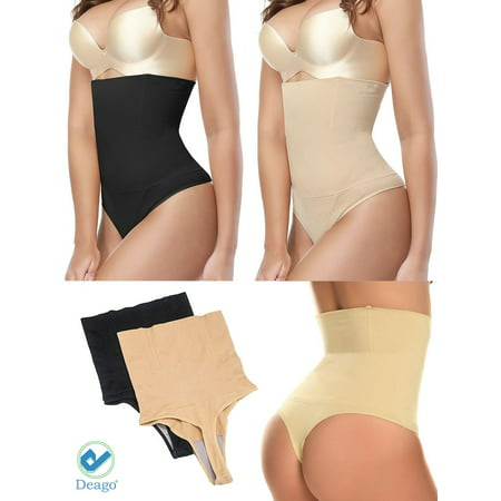 6d1ddd5eb Deago - Deago Women High Waist Thong Briefs Shapewear Body Shaper Tummy  Control Cincher Underwear Panties - Walmart.com