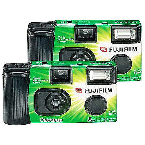 fujifilm disposable 35mm camera with flash, 2 pack