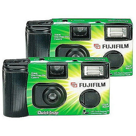 Fujifilm Disposable 35mm Camera With Flash, 2 Pack - Walmart.com