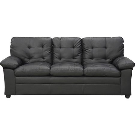 Buchannan Faux Leather Sofa