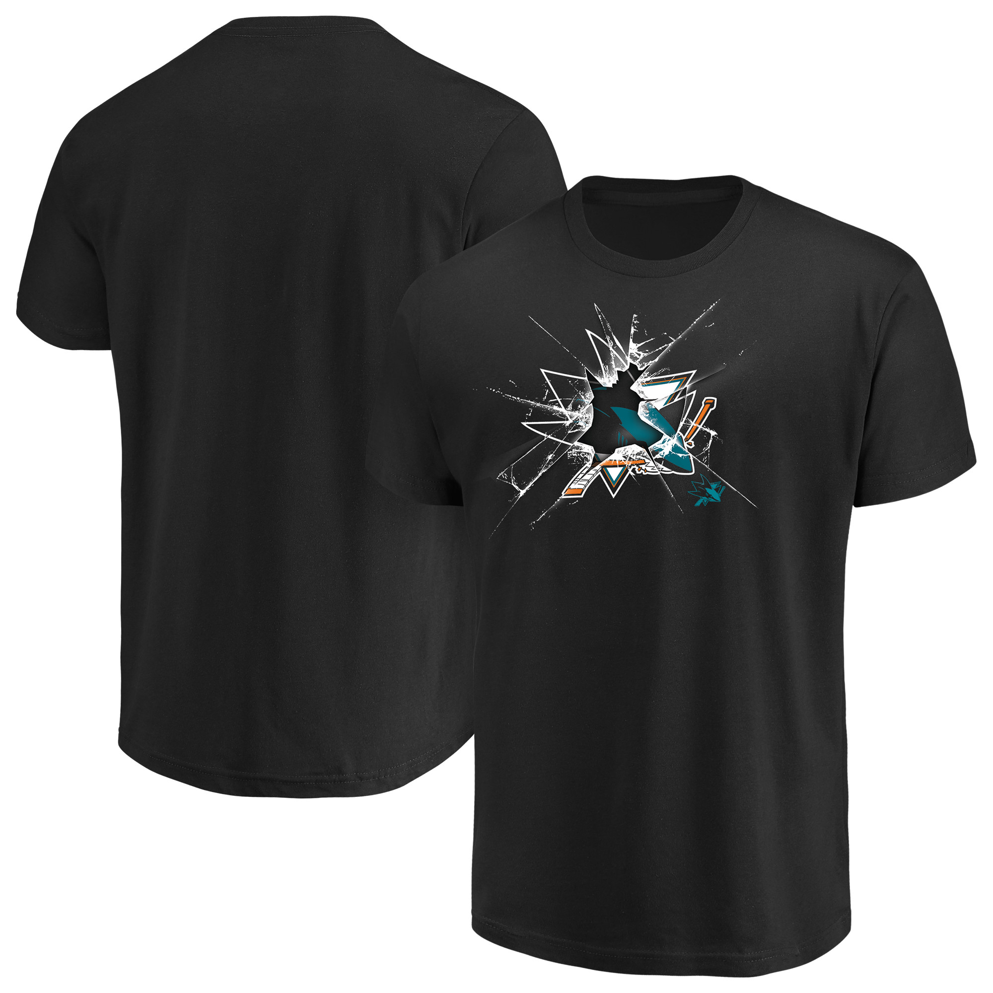 Men's Majestic Black San Jose Sharks Poke Check T-Shirt