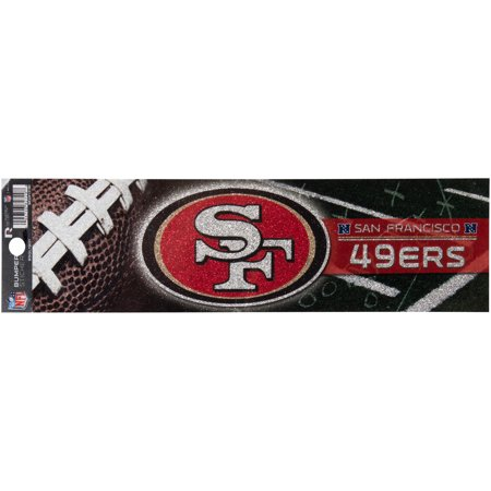 San Francisco 49ers Bling Bumper Sticker - No Size (San Francisco 49ers Parking Sign)
