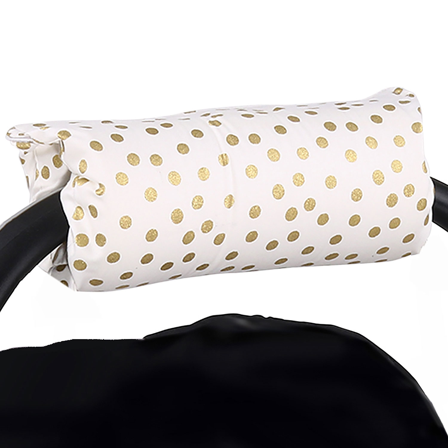 Metallic Gold Dot Car Seat and Baby Carrier Cushion by The Peanut Shell