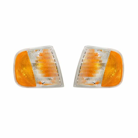 Ford Turn Signal Light (NEW FRONT TURN SIGNAL LIGHT PAIR FITS FORD F-150 1997 FO2521132 FO2520132 F65Z 13201 AD F65Z-13201-AD F65Z13201AD )