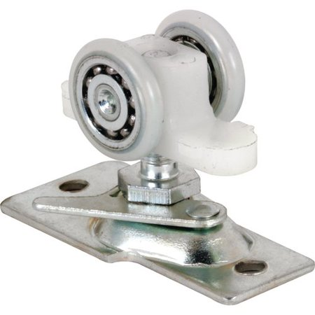 Prime-Line Products N 7065 Pocket Door Roller Assembly, 13/16 in, Convex, Plastic Tires, Steel Bracket & Ball Bearings