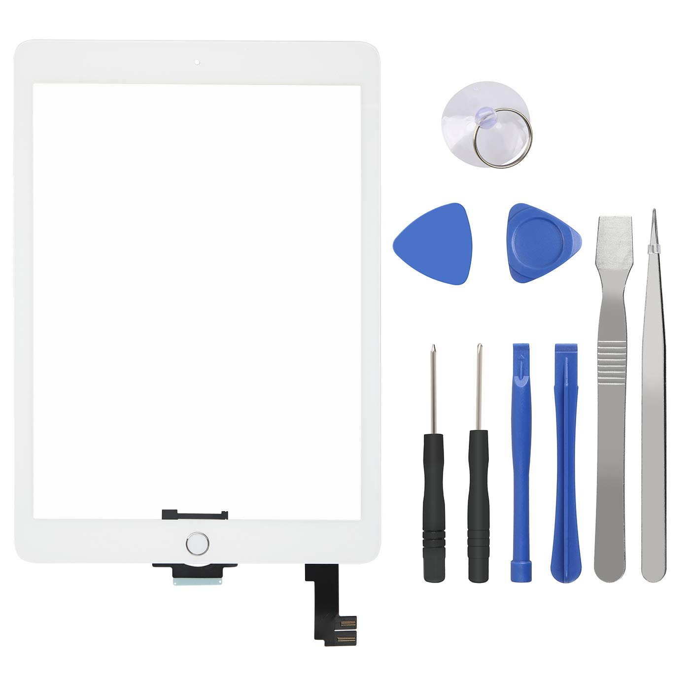 with Tool Kit Home Button for Apple iPad Air 2 White
