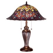 25 in. Peacock Feather Table Lamp