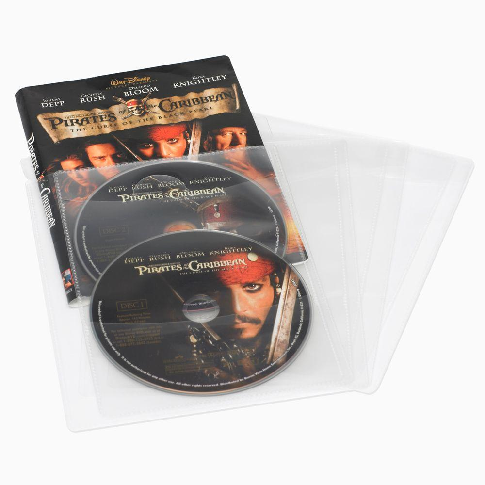 25 CD DVD or Blu-Ray Media Living Clear Movie Sleeves