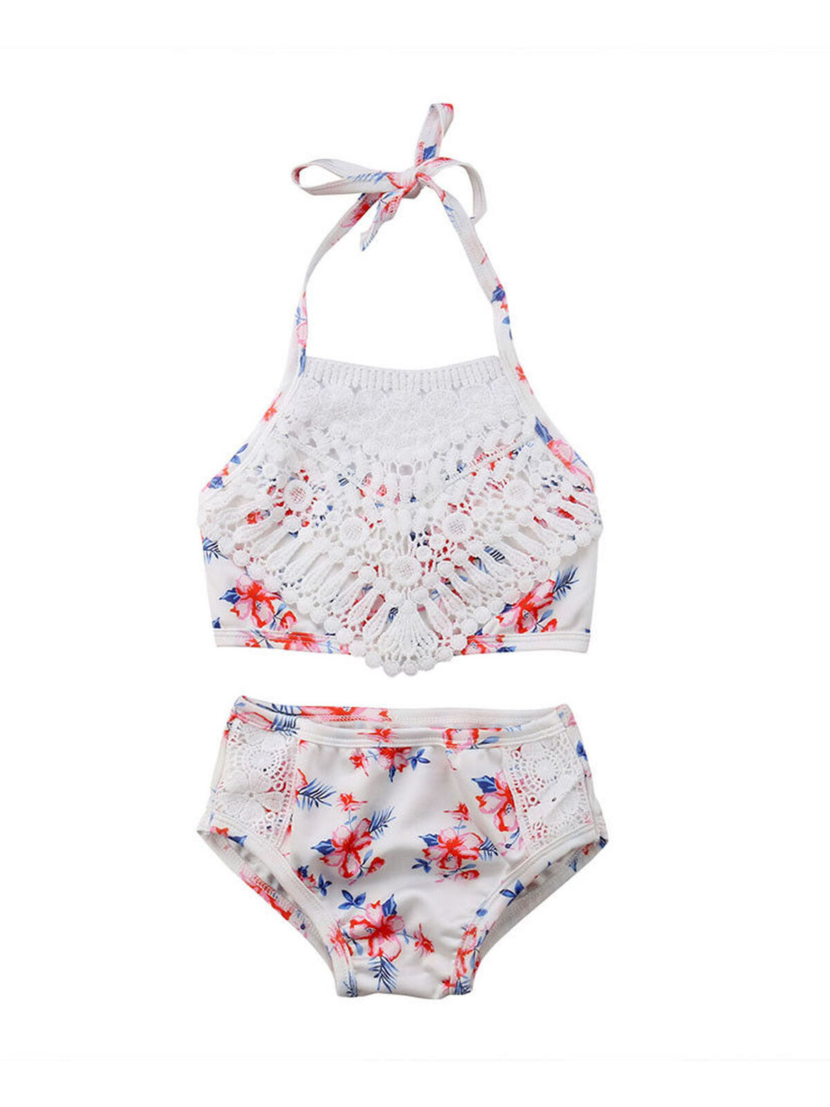 Toddler Kids Baby Girl Swimsuit Floral Bathing Suit Bikini Set Swimwear