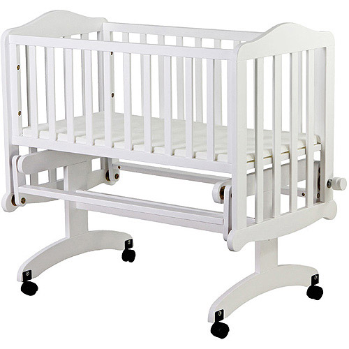 Dream on Me Lullaby Fixed-Side Cradle Glider, White