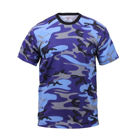 Electric Blue Camouflage T-shirt (Electric Shift)