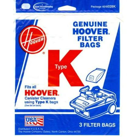 3PK, HOOVER K SPIRIT CANISTER, PAPER BAGS (Hoover Paper Bag)