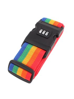Unique Bargains Assorted Color Adjustable Luggage Suitcase Strap Password Belt Combination Lock