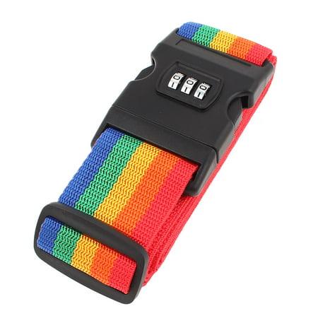 - Unique Bargains Assorted Color Adjustable Luggage Suitcase Strap Password Belt Combination Lock