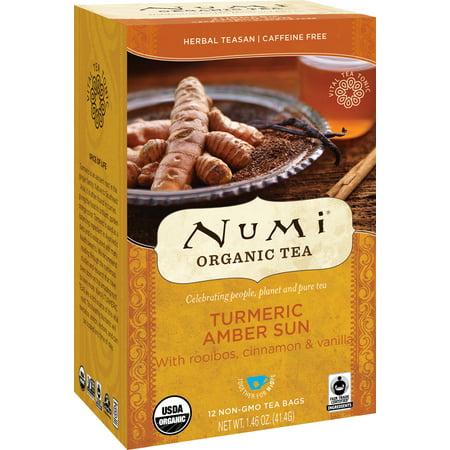 Numi Organic Tea, Amber Sun, Tea Bags, 12 Ct German Organic Tea