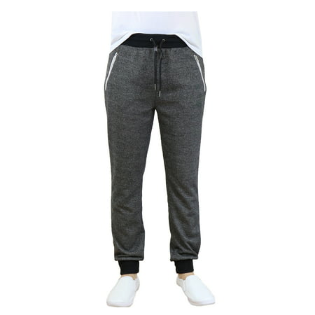 Men's Slim-Fit French Terry Jogger Sweatpants With Zipper
