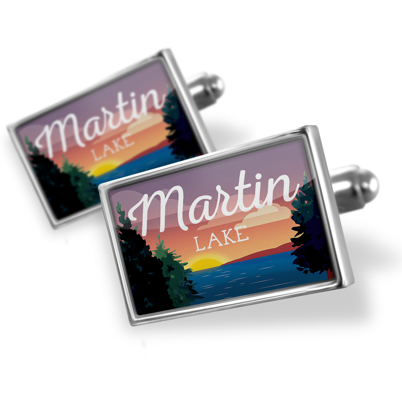 Cufflinks Lake retro design Martin Lake - NEONBLOND