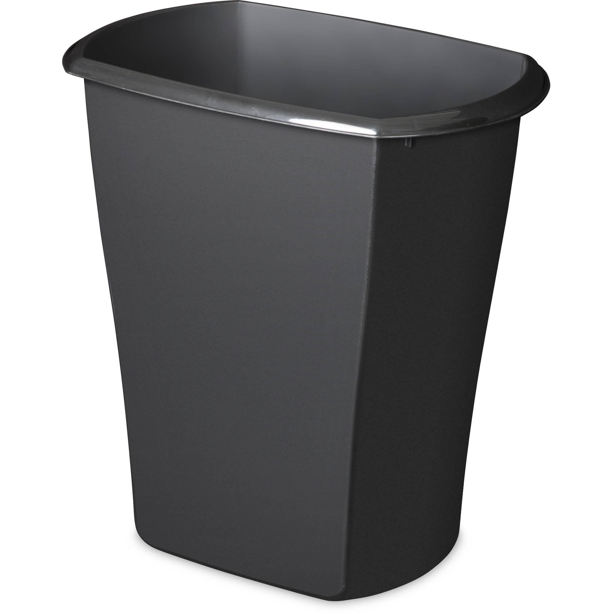 Sterilite 5.5 Gal Open Wastebasket, Black