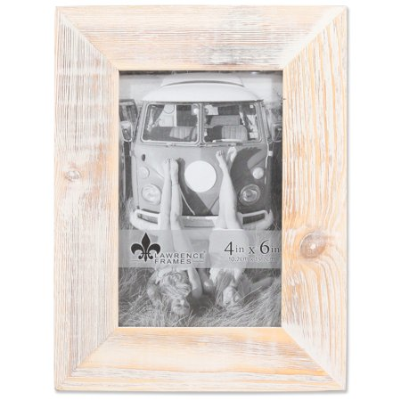 4x6 Sarasota Whitewash and Weathered Natural Wood Picture (Natural Maple Frame)