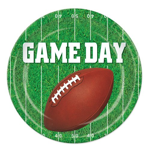 The Beistle Company Game Day Football Paper Plate